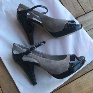 Franco Sarto SULU Black/Gray Heels